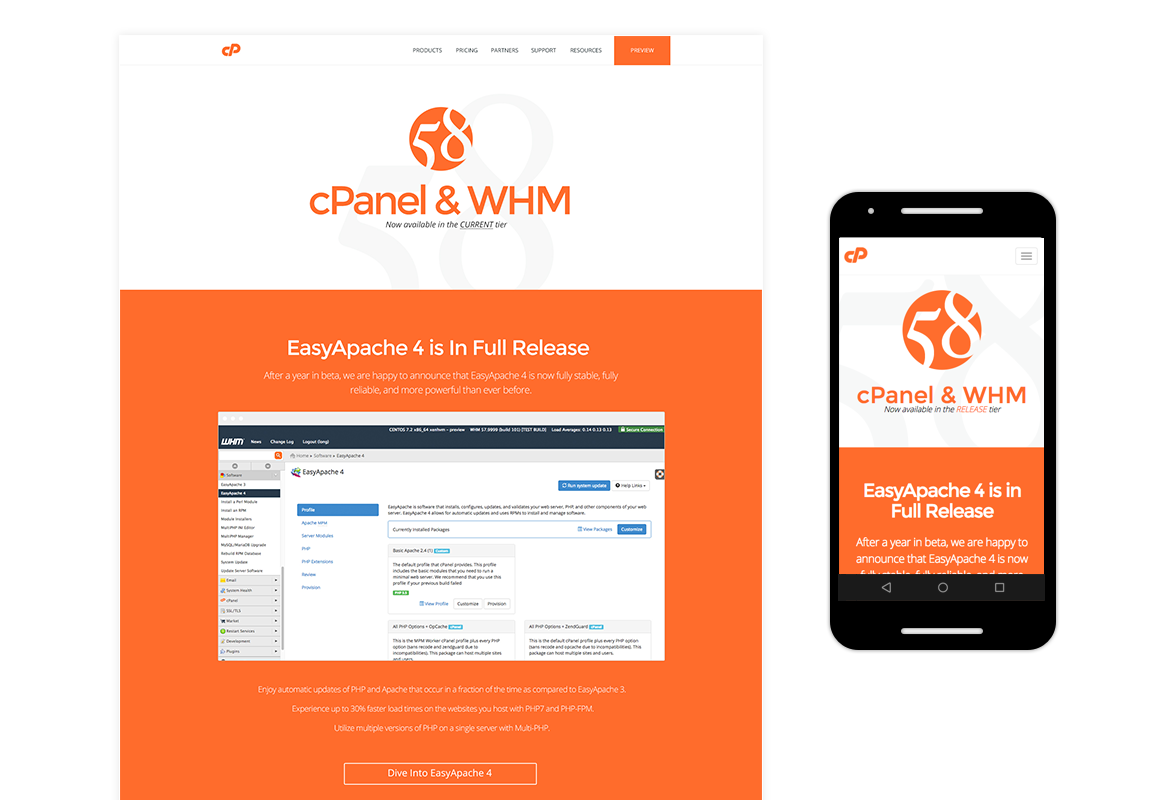 cPanel Release 58
